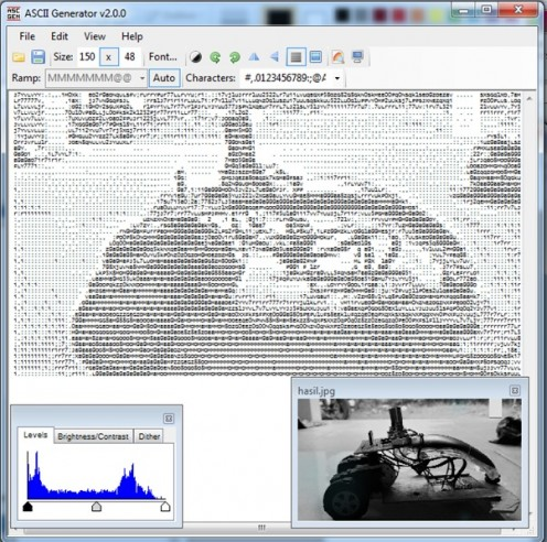 4 Langkah Mudah membuat foto unik dengan ASCII Generator