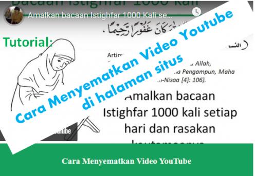 Tutorial Embed Video Youtube pada website