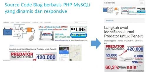 Source Code Blog berbasis PHP MySQLi yang dinamis dan responsive